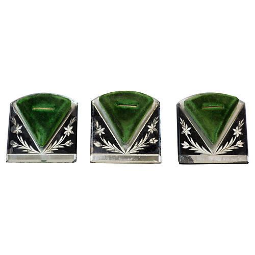 Art Deco Ring Holders, S/3