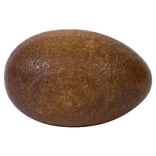 Hand-Carved Wood Egg