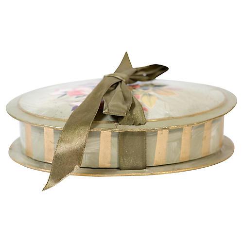 Vintage Christmas Decoupage Bon Bon Box
