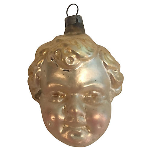 Antique German Cherub Ornament