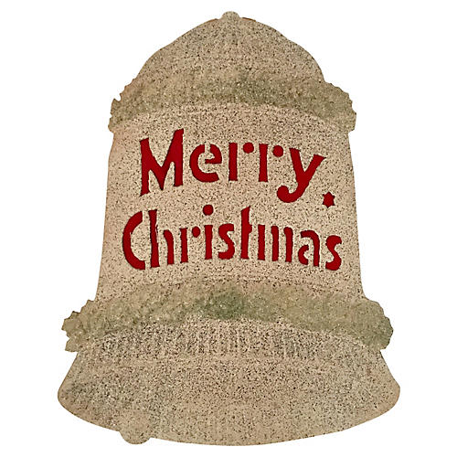 """German """"Merry Christmas"""" Bell Sign"""