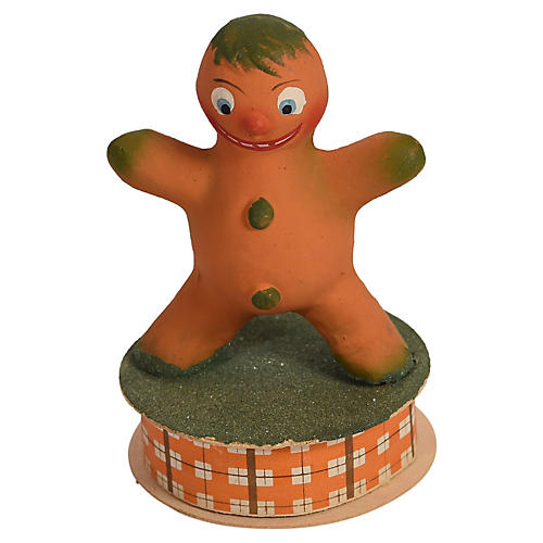 German Gingerbread Boy Candy Container
