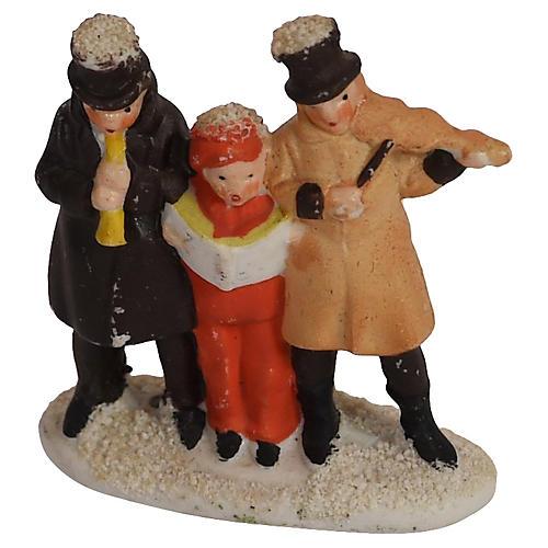 Trio of Bisque Carolers