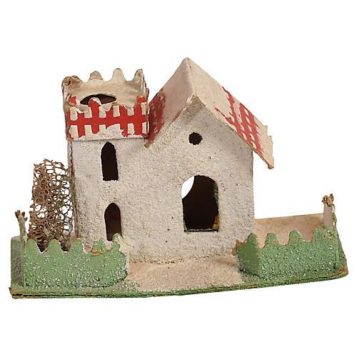 Papier Mache Christmas Castle