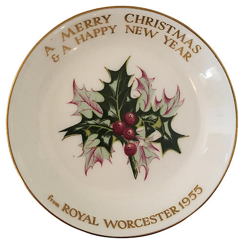 1955 Royal Worcester Porcelain Tray