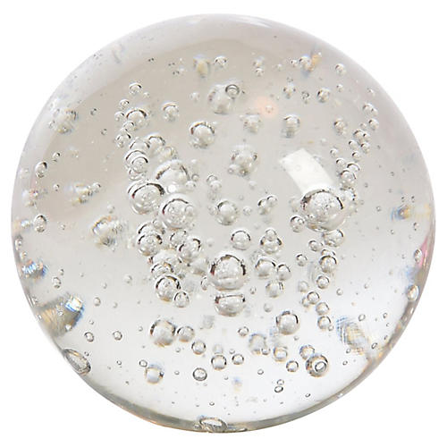 Bubble Glass Paper Weight