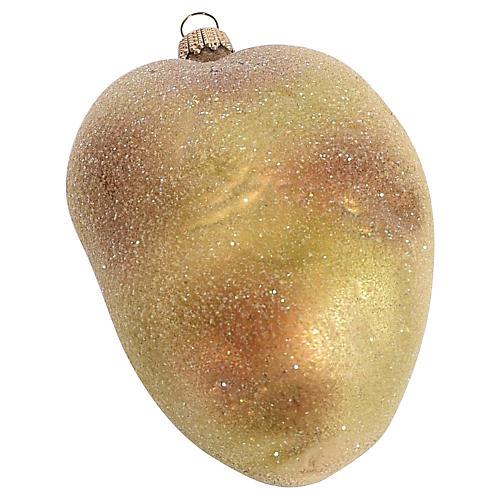 Glass Potato Ornament w/ Venetian Dew
