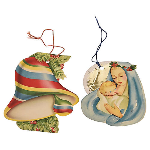 1940s Paper Ornaments