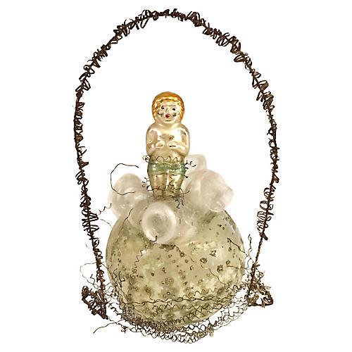 Antique Angel on Cloud Ornament