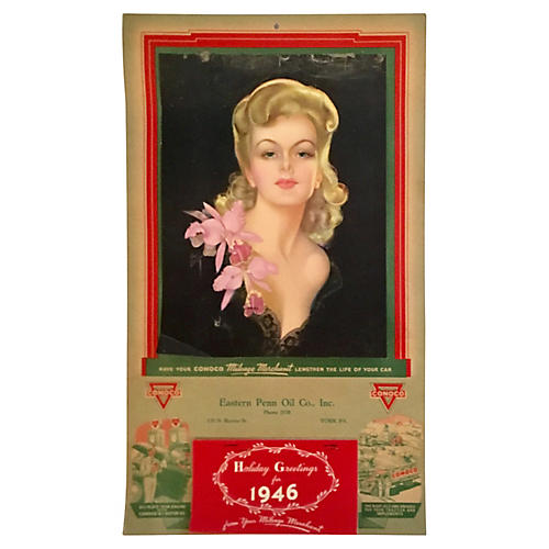 Holiday Greetings for 1946 Calendar