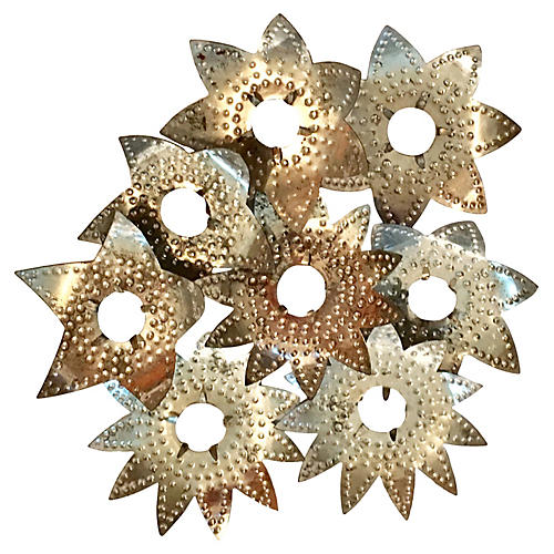 Hammered Aluminum Light Reflectors S/8