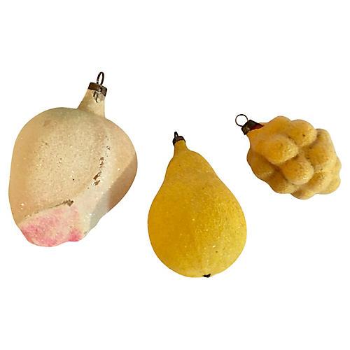 Trio of Venetian Dew Encrusted Fruit