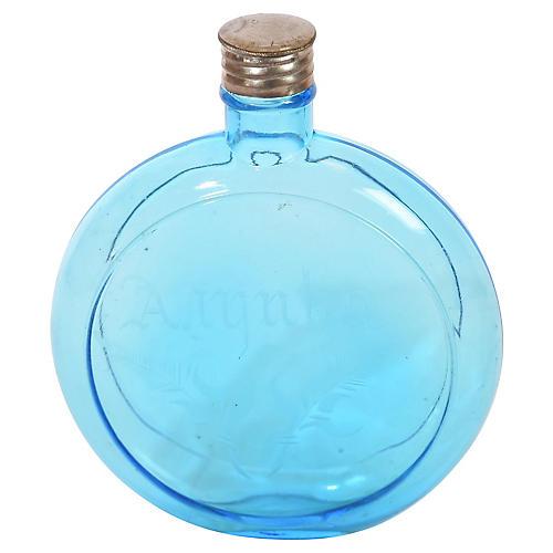 Antique Blue Glass Arnyca Bottle