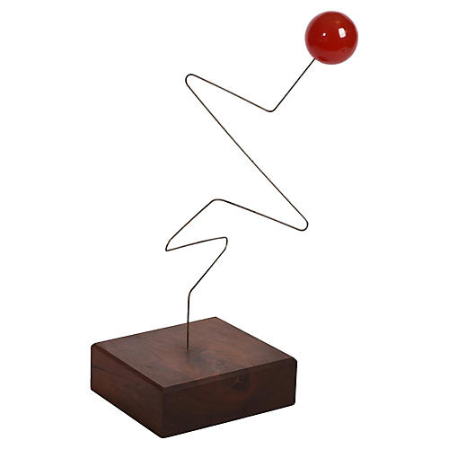 Midcentury Kinetic Wire Sculpture