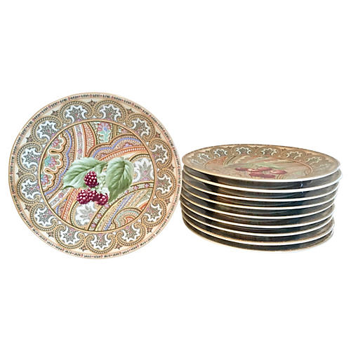 Limoges Hors d'Oeuvre Plates, S/10