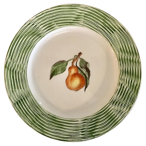 Hand-Painted Pear Plate