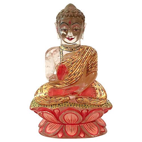 Hand-Painted Crystal Buddha