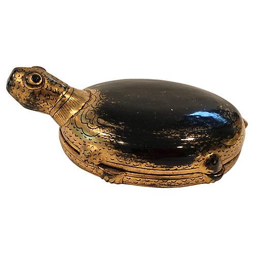 Papier Mache Turtle Box