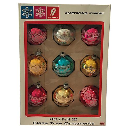 America's Finest Glass Ornaments, S/9