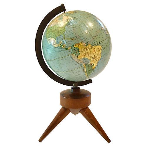 Midcentury Modern Desk Globe