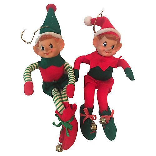Pair of Elf Ornaments