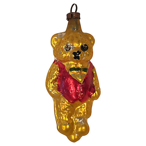 Blown Glass German Teddy Bear