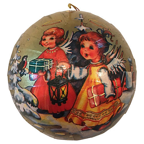 West German Angel Candy Container Ball