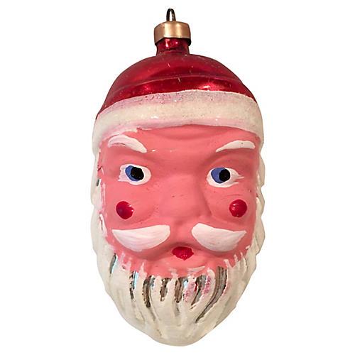 Austrian Hand-Painted Glass Santa Claus
