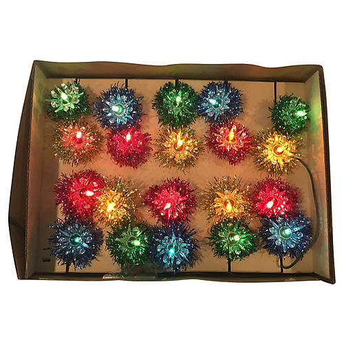 Multicolored Tinsel Lights Orig Box S/12