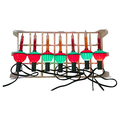 String of Bubble Lights in Orig. Box S/7