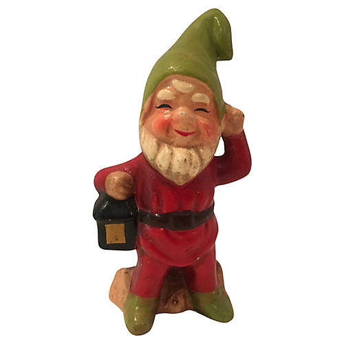 Woodland Gnome w/ Lantern Figure