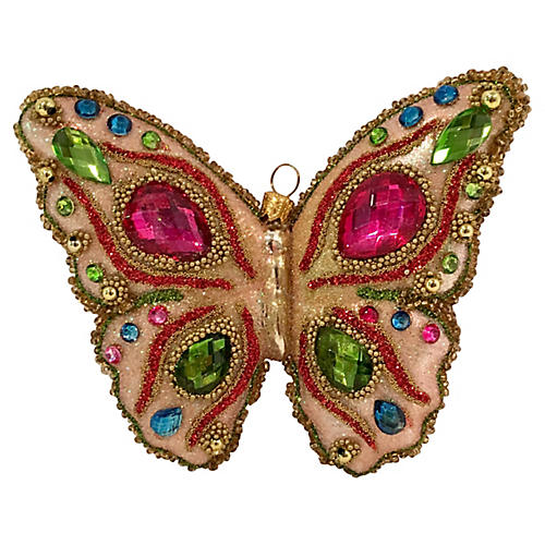 Jewel Encrusted Butterfly Ornament