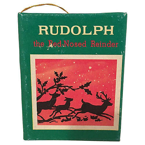 Miniature Rudolph Book/Ornament