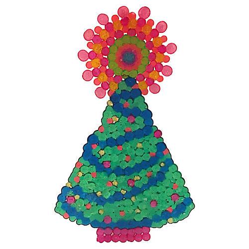 1960s Mod Christmas Tree Sun Catcher
