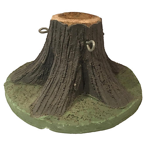 Faux Bois Carved Concrete Tree Stand