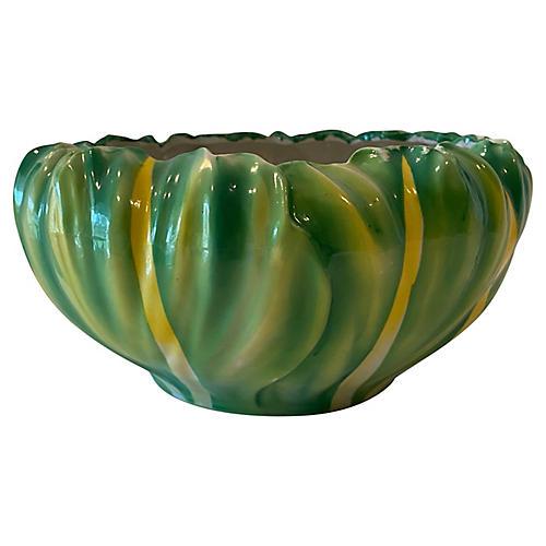 Midcentury Porcelain Salad Serving Bowl
