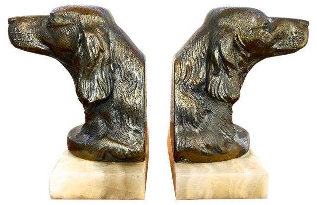 Bronze Retriever Dog  Bookends