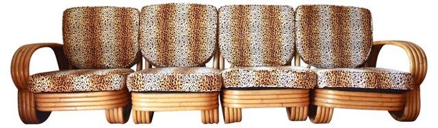 Bamboo Sectional  Sofa, 4 Pcs