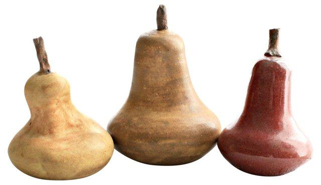 Ceramic Pears, S/3