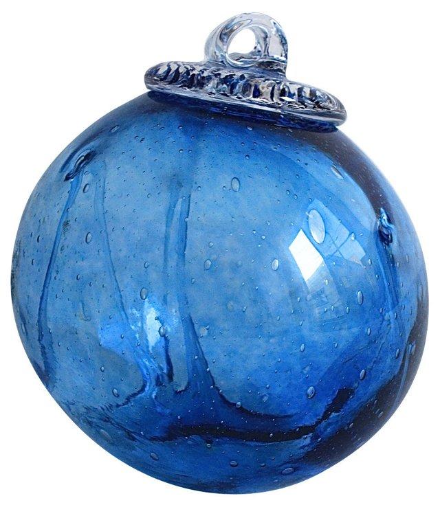 Blue Glass-Blown Hanging Ball
