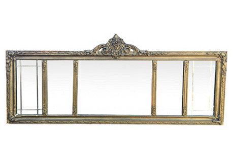 Carved Wood Mantel Mirror