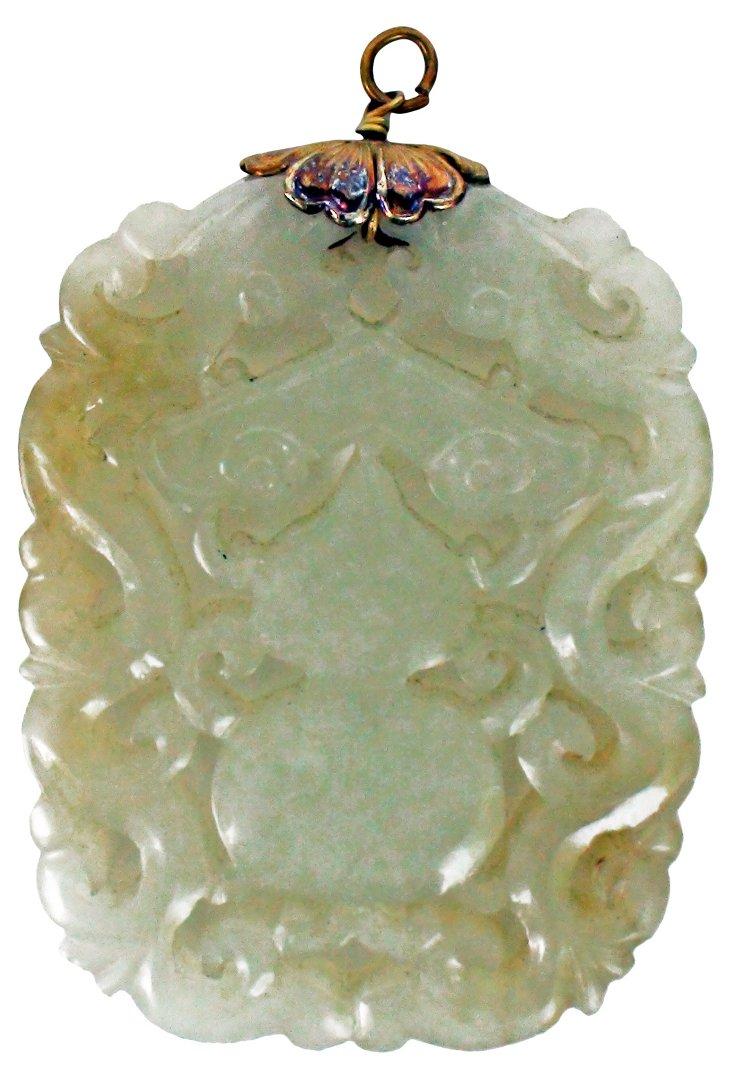 Qing Dynasty Celadon Jade Pendant