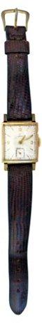 Omega 14K Square Case Watch