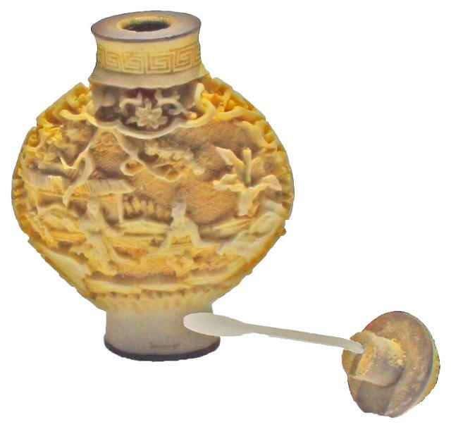 Antique Yellow Snuff Bottle