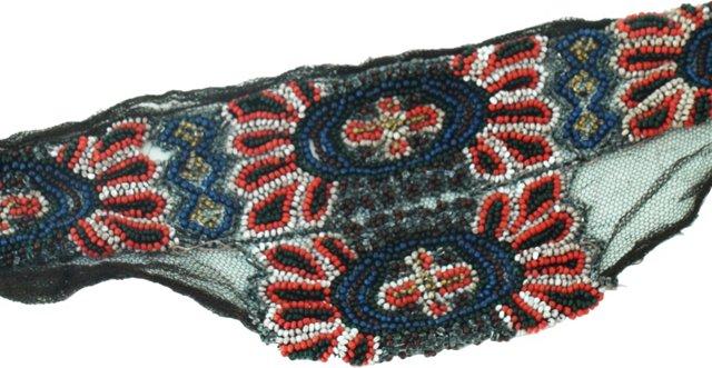 Handmade Beaded Lace Appliqué