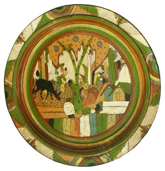 Tlaquepaque Wall Charger Plate
