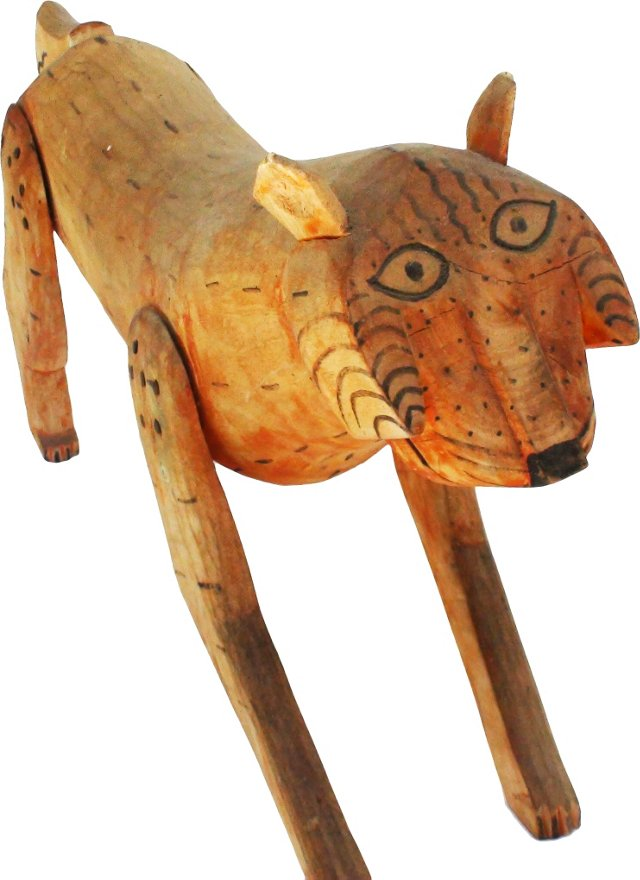 Folk Art Mountain Lion Sculpture