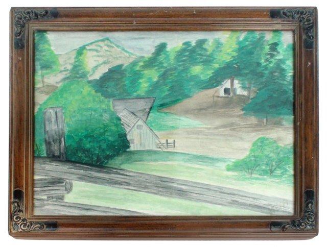 Watercolor Landscape by Stephanie Seigel