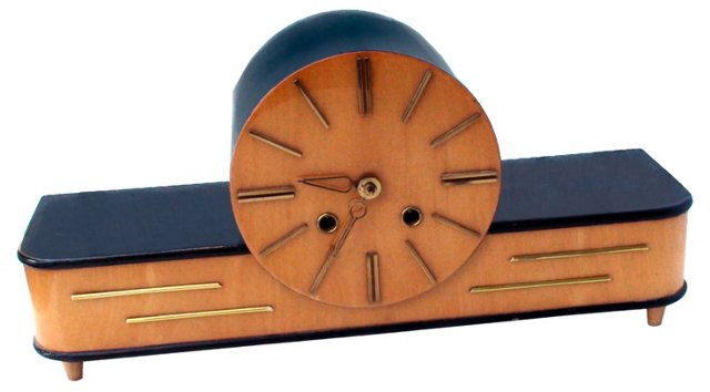 Chiming Art Deco Mantel Clock