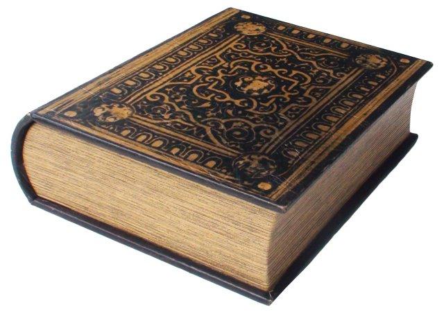 Antique Italian Leather Book Box
